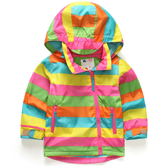 Children Outerwear Warm Coat Sporty Kids Clothes Double-deck Waterproof Windproof Baby Boys Girls Jackets For 2-10T