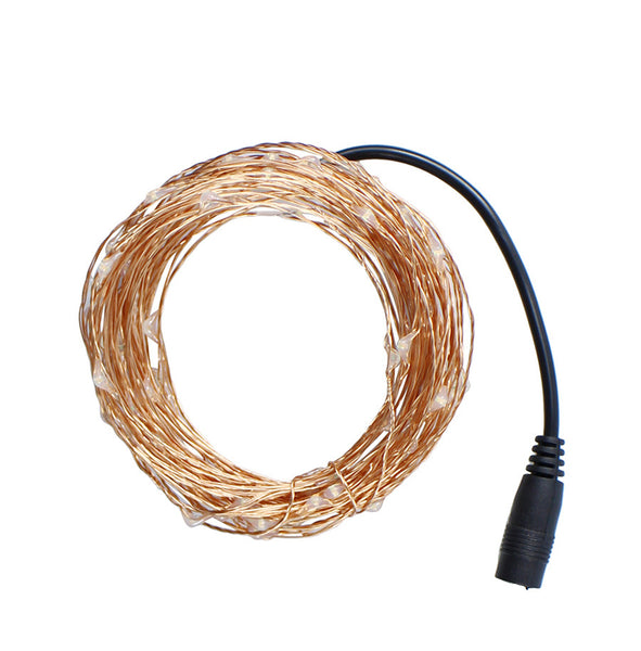 Christmas lights 8 Colors 10m 100 LED Copper Wire LED String Light Starry Lights+Power Adapter (UK US EU AU Plug) holiday lights