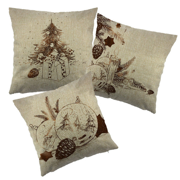Christmas tree Santa Snowman Pillow Case Decorative Cotton Cushion Cover For Sofa Throw Cushion Cover For Seat Chair