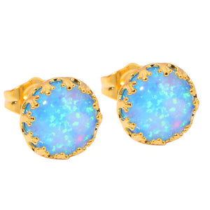 Cinily Trendy Gold Plated Stone Stud Earrings Women Oh2482