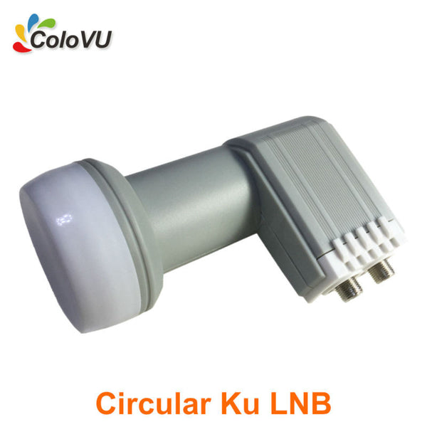 Circular Ku Band Twin LNB High Gain best Quality with Waterproof HD Digital Satellite Dual Output LNBF hot selling