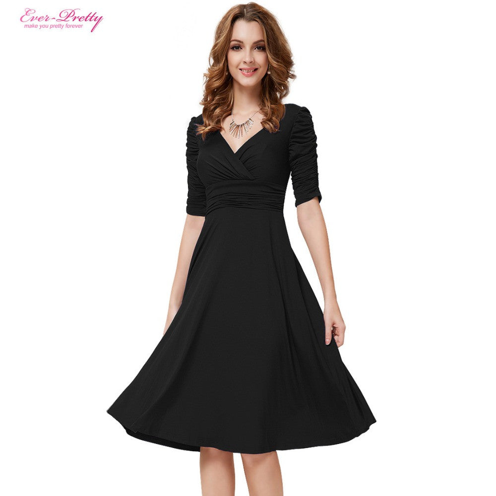 ... Cocktail Dresses Ever Pretty AS03632 Short Dresses Women 3 4 Sleeves  Hot Selling V Neck High ... bb1b4a4dd9
