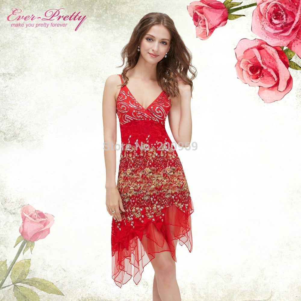f61a8445c27 Cocktail Dresses Ever Pretty EP00045 Summer Styles New Arrival Hot Sexy  Flowing Knee Length Lace Cocktail Party Dresses