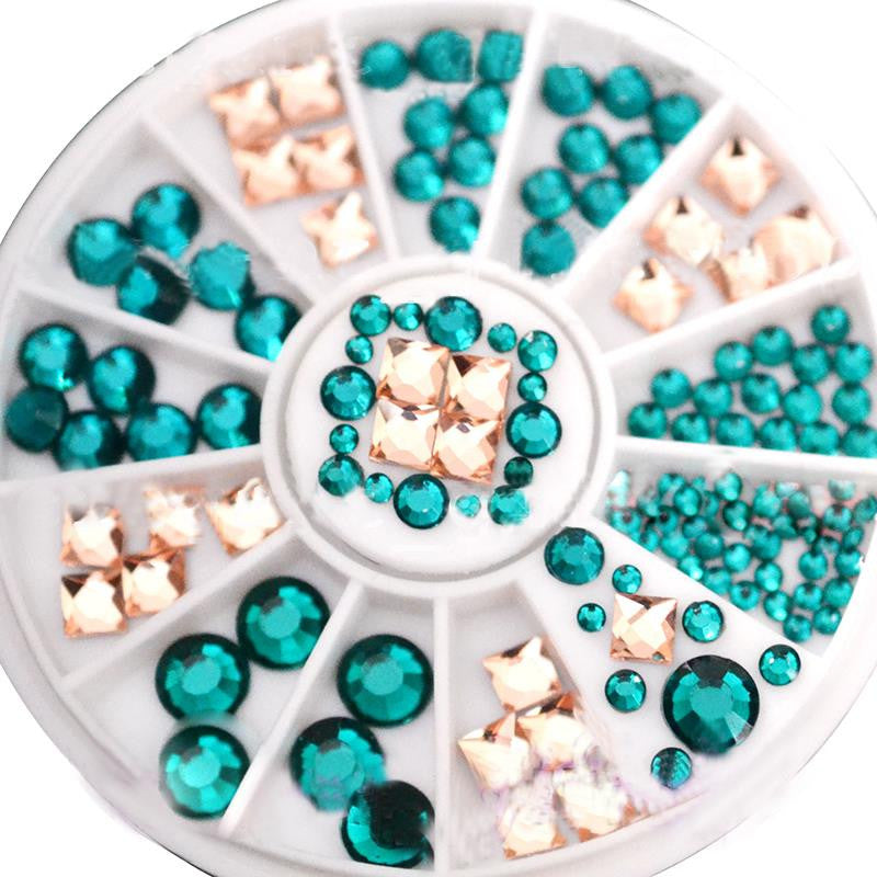 Colorful 3D Nail Art Rhinestones Sticker Steeple Design Nail Tools Glitter for Nail Jewelry Decorations Manicure M01816