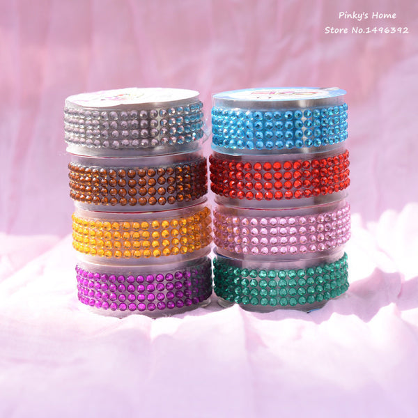 Colorful Acrylic Rhinestone Sticker Self-Adhesive Stick On Tape DIY Stickers for Scrapbooking Decora Scrapbooking Crystal