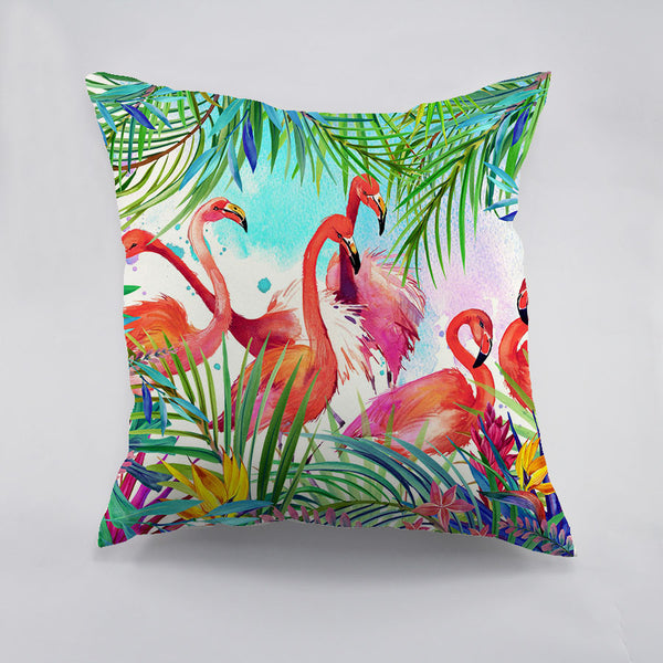 Colorful Flamingo Printed polyester Cushion Cover Creative Decorative Chirsmas Theme Pillow Case For Car Home Sofa