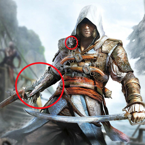 Cosplay NECA Assassins Creed 4 Hidden Blade Brinquedos Edward Kenway Juguetes PVC Action Figure Model Kids Toys k425 FW021