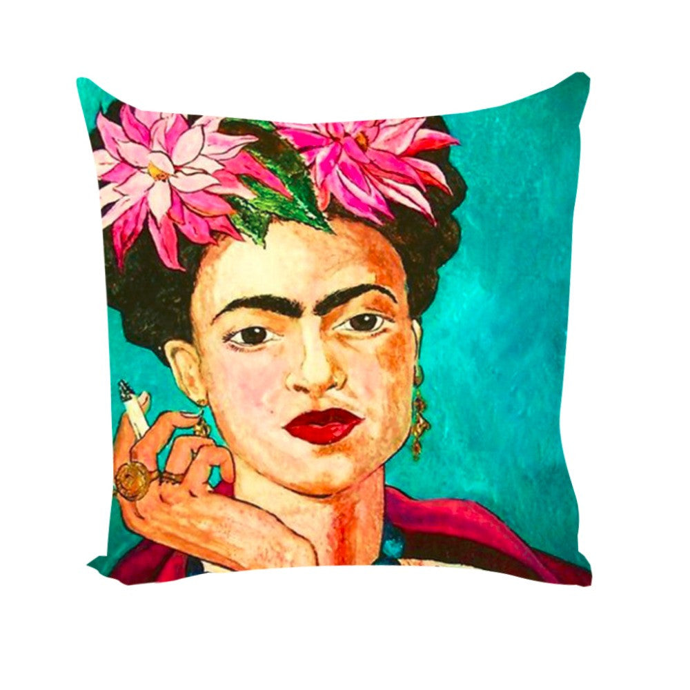 Cushion Cover Frida Kahlo Pillow Case Firm Flower