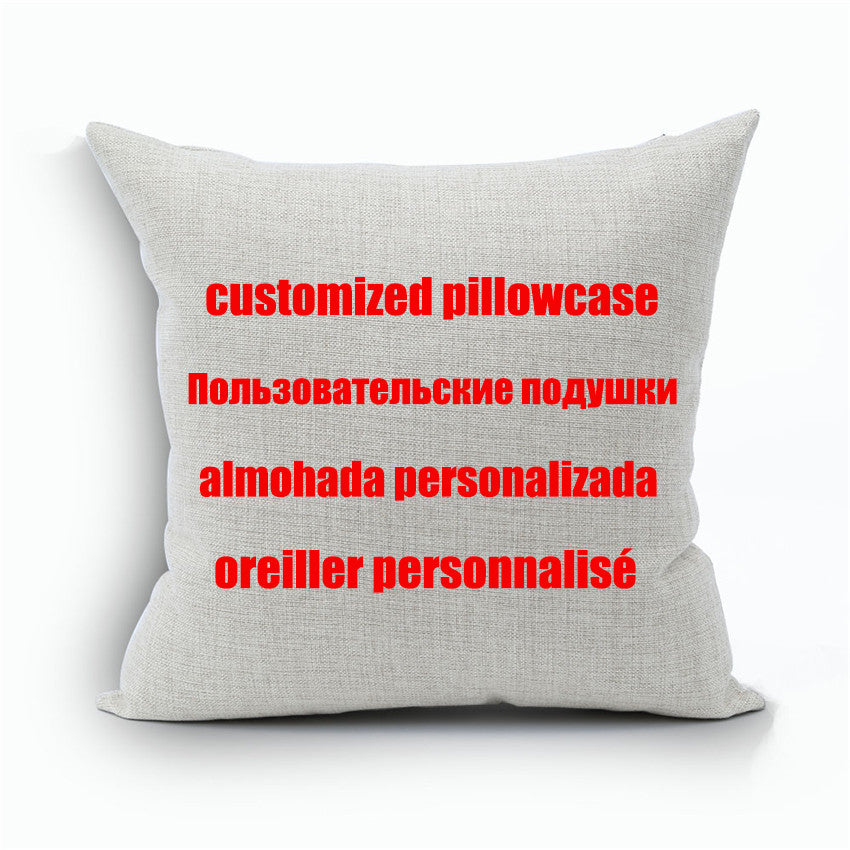 Custom Designs Linen Pillow Cover Print With Your Pictures Texts Designs Photos Unique DIY Square Throw Pillowcase Cool Gift