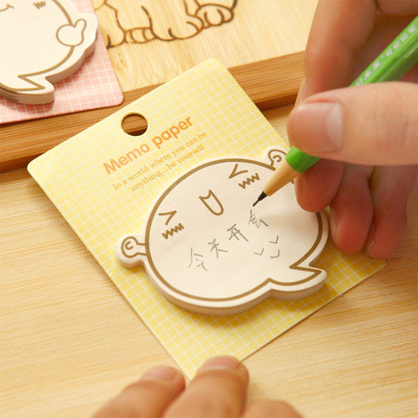 Cute Big Face N Times Sticky Notes Memo Pad Paper Sticker Post It Gift Cartoon Inspirational Wall stickers Fridge Magnets