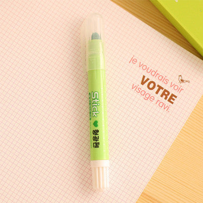 cute solid waterchalk jelly color highlight pen kawaii stationery material escolor caneta gift school supplies