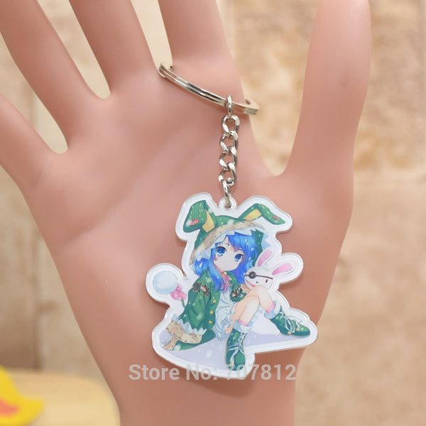 DATE A LIVE acrylic Keychain Action Figure Pendant Car Key Accessories Cute Japanese Anime Collection YHDZZ001 LTX1