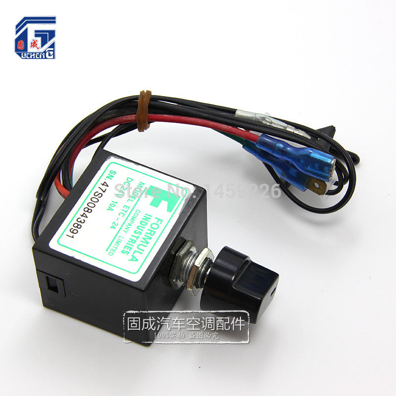 DC 12V 24V 10A Evaporator Temperature Controller Rotary Switch Electronic  Thermostat with Sensor Auto A C Air Conditioning