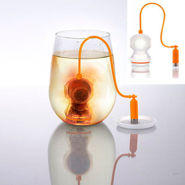 Deep Coffee Tea Infusers Makers Diver Loose Leaf Strainer Bag Mug Filter Kitchen Free Shipping