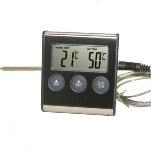 Digital Oven Thermometer Kitchen Food Cooking Grilling Meat BBQ Thermometer and Timer Water Milk Wine Liquid Temperature Probe