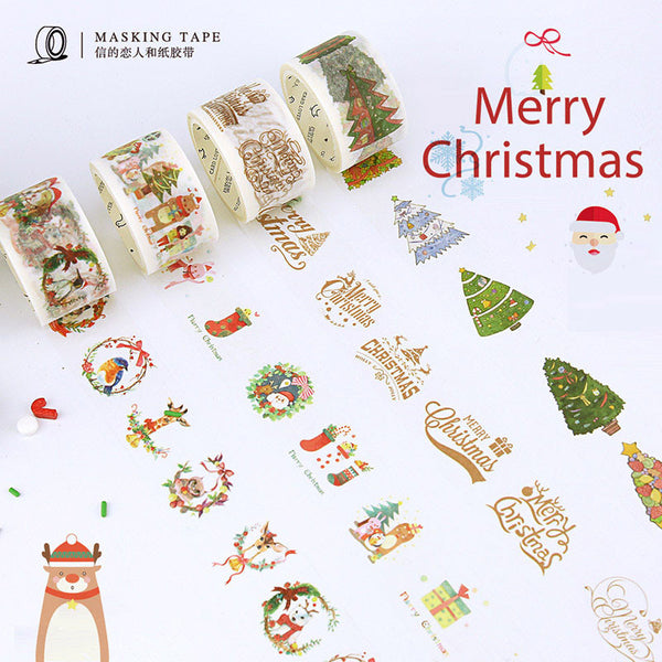 DIY Cute Kawaii Decorative Washi Tape Creative Merry Christmas Tape For Home Decoration Kids Gift Free Shipping 3014