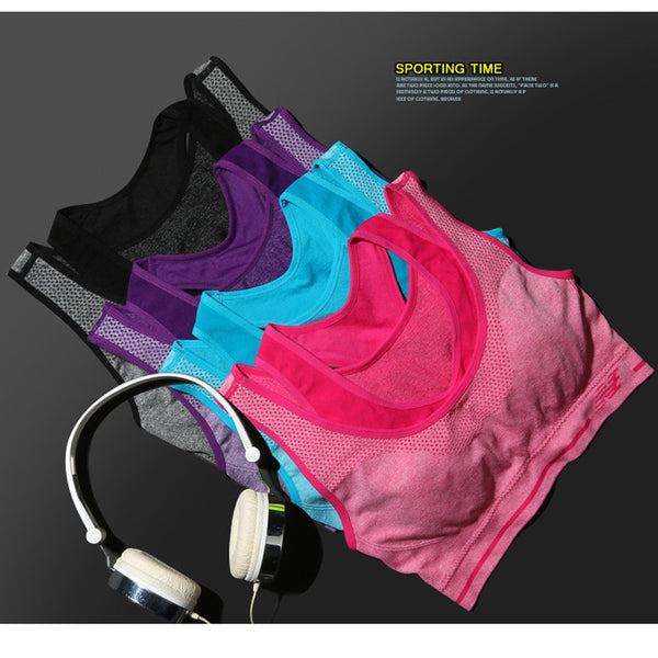 Double Layler Seamless Push Up Padded Wirefree Professional Running Vest High Impact Racerback Double Layler Yoga Sports Bra