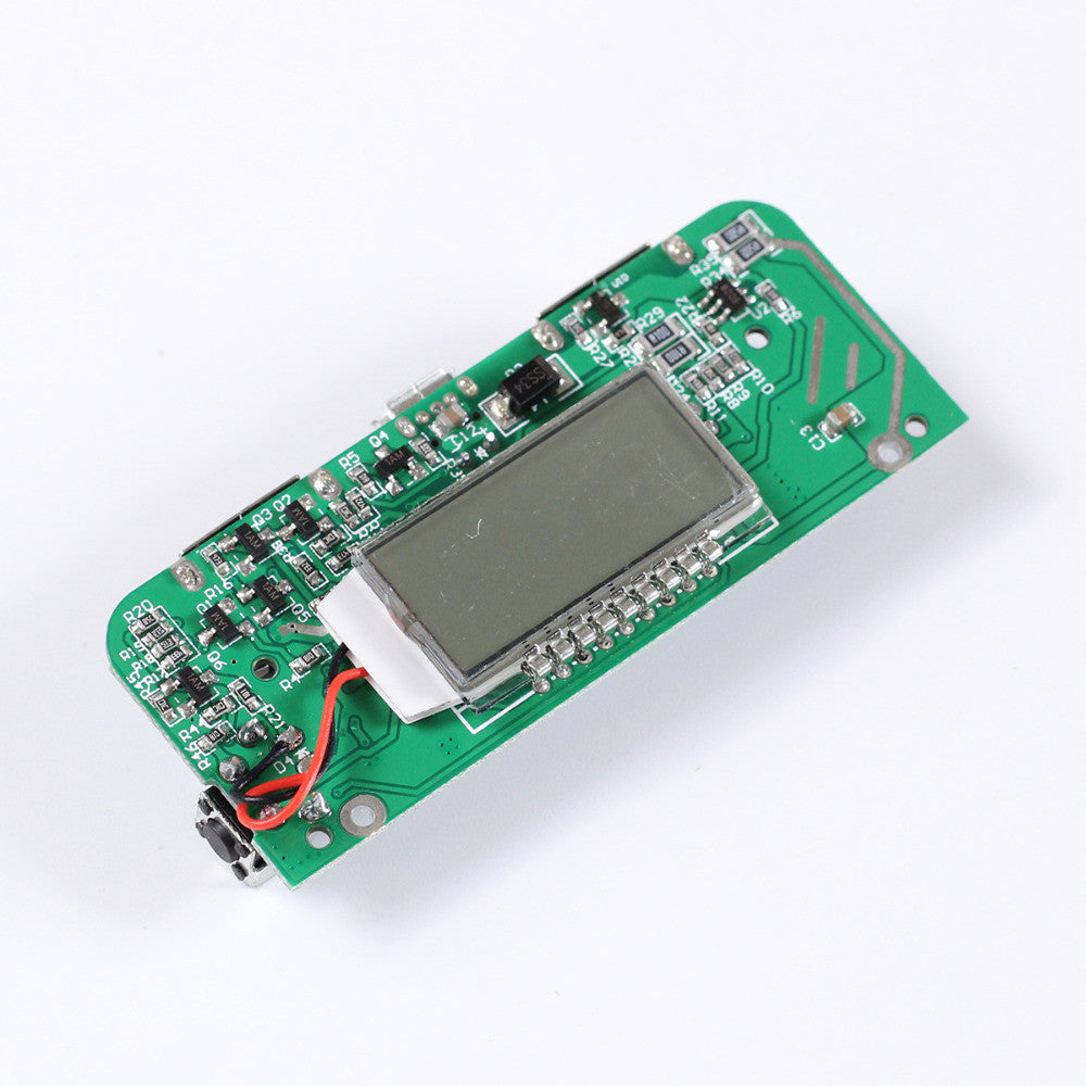 Dual USB 5V 2 1A 1A Mobile Power Bank Charger PCB Board Boost Step up Power  Module LED Screen Display for 18650 Battery DIY 65*2