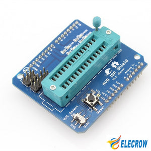 Elecrow High Quality AVR ISP Shield for Arduino Used to Download Bootloader Burning ATmega328P AVR ISP Programmer Shield DIY Kit