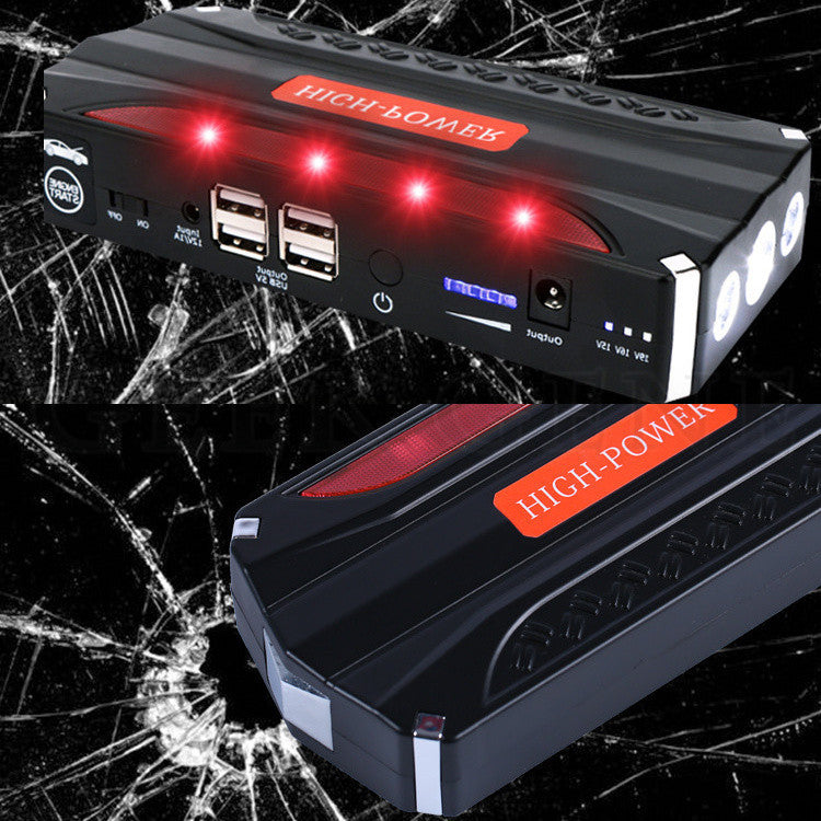 Emergency car battery jump starter 68800mAh portable power bank Auto  Charger Start Jumper Police lights Life hammer USB DC port