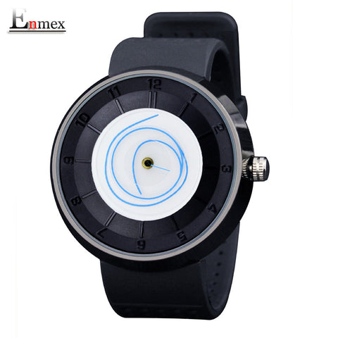 Enmex Resin Quartz Alloy Quartz Wristwatches Men E500