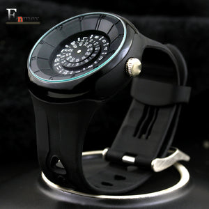 Enmex Resin Quartz Alloy Quartz Wristwatches Men Time Code
