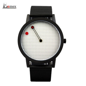 Enmex Stainless Steel Quartz Alloy Quartz Wristwatches Men E701