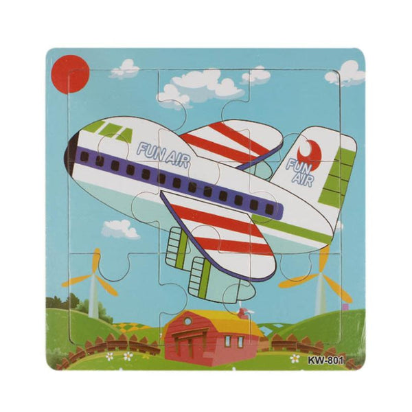 Excellent Design Wooden Airpalne Aircraft Jigsaw Toys For Children Education Learning Puzzles Kids Toys Wood Puzzles Toy