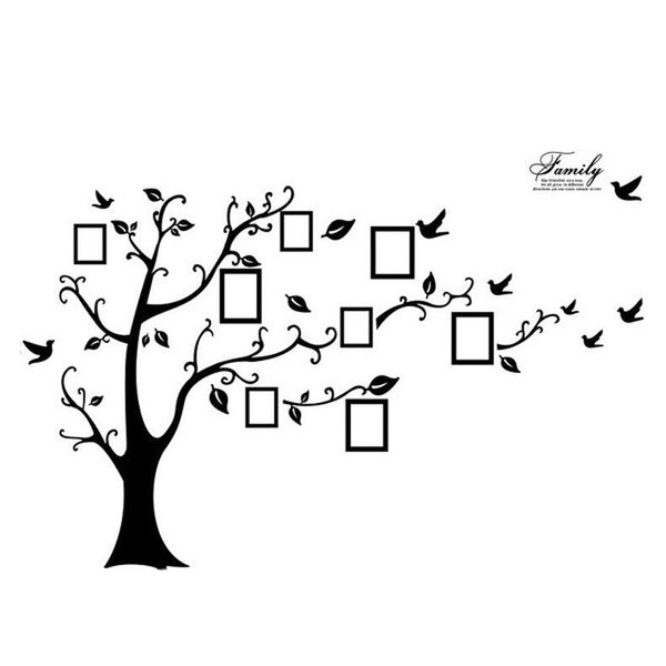 Family Picture Photo Frame Tree Wall Art Stickers Vinyl Decals Home Decor Black TB Sale