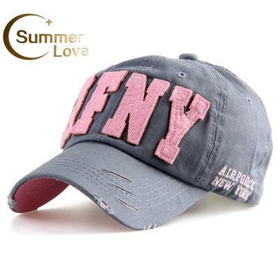 e0beb36e546 Fashion Cotton Snapback Baseball Cap Female Hats For Women Girls NYC and  AFNY Casquette Sport Casual ...