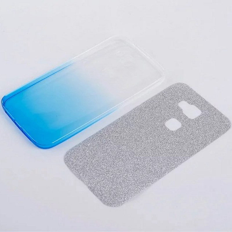 Fashion Glitter Bling Soft TPU Gradient Color Back Cover For ...
