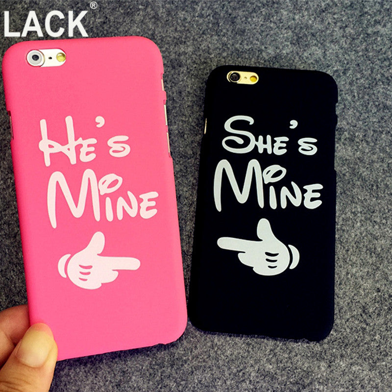 new arrival 4696d 93d92 Fashion Lover Couples Case For iphone 5S Case For iphone 5 5S 6 6S Plus  Matte PC Hard Phone Cases Cover He is Mine She is Mine