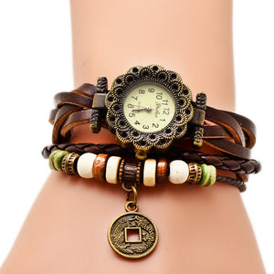 Fedylon Leather Quartz Alloy Quartz Wristwatches Women No.19