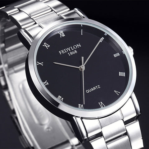 Fedylon Quartz Stainless Steel Quartz Wristwatches Men F3630