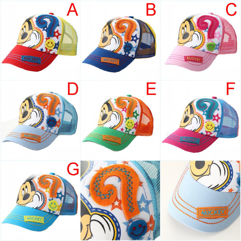 ... Fit 2-8 Years Baseball Caps For Kids Mouse Mesh Cartoon Hip Hop Boys  Girls ... 1c86d76121d2