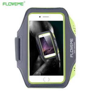 Floveme 5.5 Universal Waterproof Running Sport Armband Case For Galaxy S7 S7 Edge S6 S6 Edge A3 A4 For Iphone 5S 6S Plus Cover