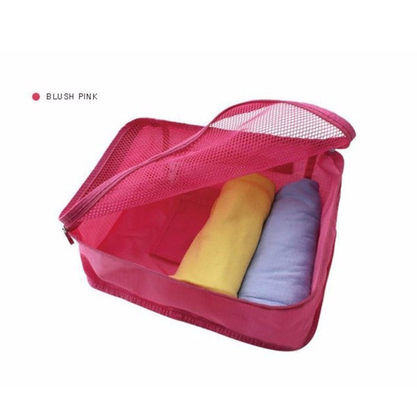 Foldable Portable Nylon Mesh Underwear Cosmetics Storage Bags For Clothes Travel Pouch Luggage Organizer Tidy Box MUS