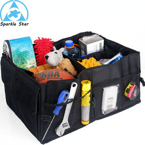 Folding trunk bags box tool grocery car nets accessories car bags stroage car racks bag