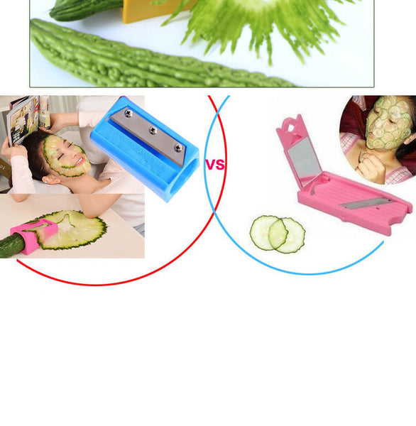 Food Facial beauty cucumber slicer Carrot Cucumber Sharpener Peeler Kitchen Tool spiral Vegetable Slicer with mirror gadgets
