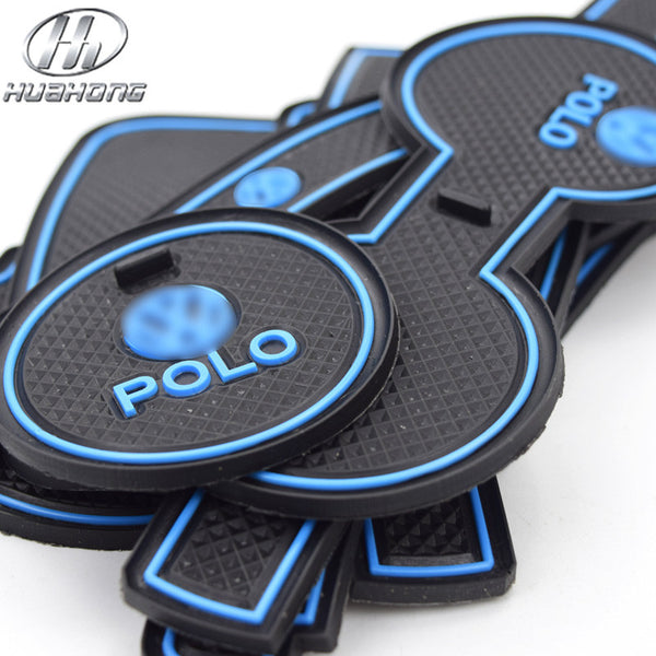 For volkswagen Polo anti slip mat Door Groove gate slot pad carpets Interior car styling accessory decoration part 2011-2015