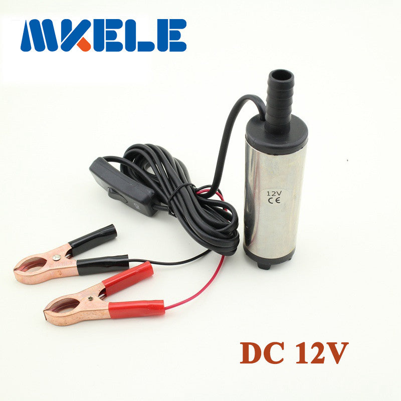 Free shipping Diameter 38MM DC 12V Submersible Diesel Fuel Water Oil Pump On Off Switch Car Camping Portable