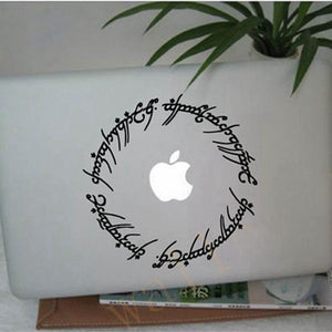 "Free shipping hobbit stickers 6"" Elvish circle decal inspired by The Lord of the Rings for Macbook Laptop etc.."