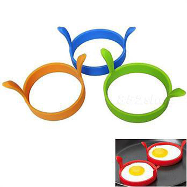 Free Shipping Kitchen Heart Silicone Egg Fry Frier Fried Oven Poacher Pancake Ring Mould Tool