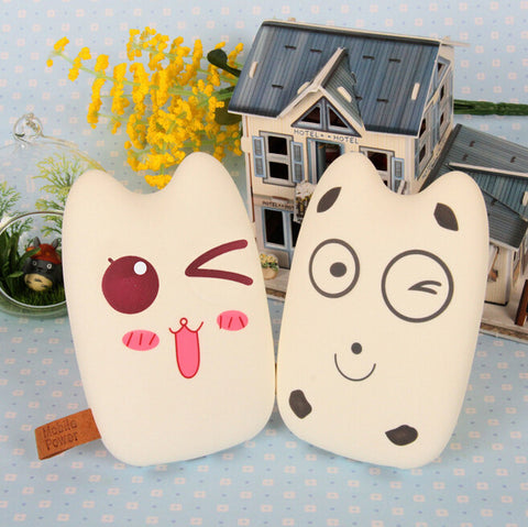 Free Shipping Mobile Power Bank 8000mah Dual USB Lovely Cartoon Powerbank External Battery Portable Charger for all phone