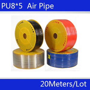 Free shipping Pneumatic parts 8mm PU Pipe 20M lot for air pneumatic hose 8*5 Compressor hose