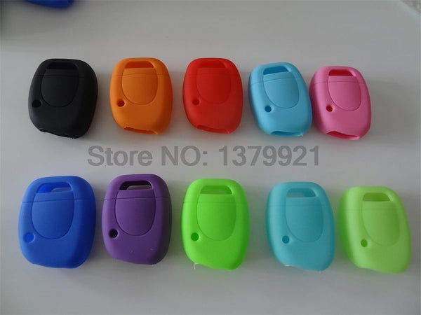Free Shipping silicone car key cover Case Shell for Renault Twingo Clio Master Kango 1 Buttons key cover