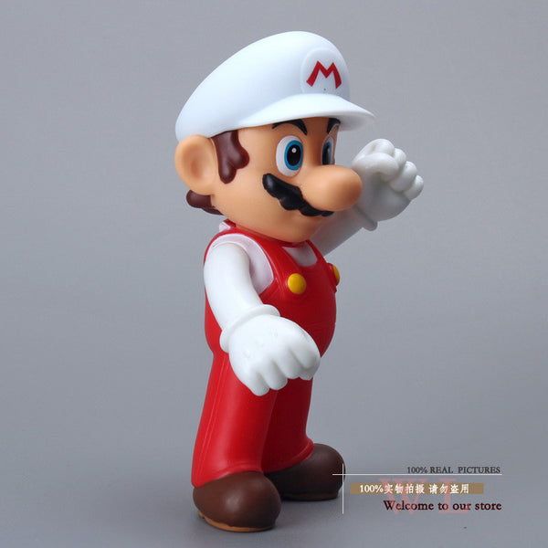 "Free Shipping Super Mario Bros Figures Mario with White Hat PVC Action Figure Model Toy Doll 5"" 12cm SMFG199"
