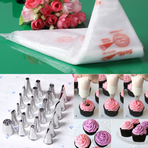 Free Shipping Thickened Disposable Cream Cake Icing Piping Decorating Bags and Pastry Bags of 100 Pieces