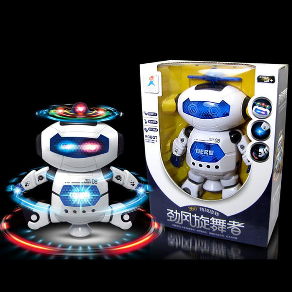 Funny Electronic Walking Dancing Smart Space Robot Astronaut Kids Music Light Toys montessori materials Free Shipping