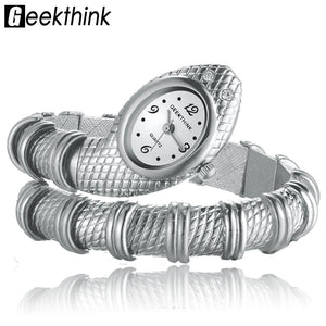 Geekthink Stainless Steel Quartz Alloy Quartz Wristwatches Women 9004